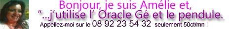 Amélie a 10 ans d'experience dans la voyance, elle saura vous éclairer avec préçision au 08 92 23 54 32 (sans cb) ou 04 95 70 43 85 (cb securisé)